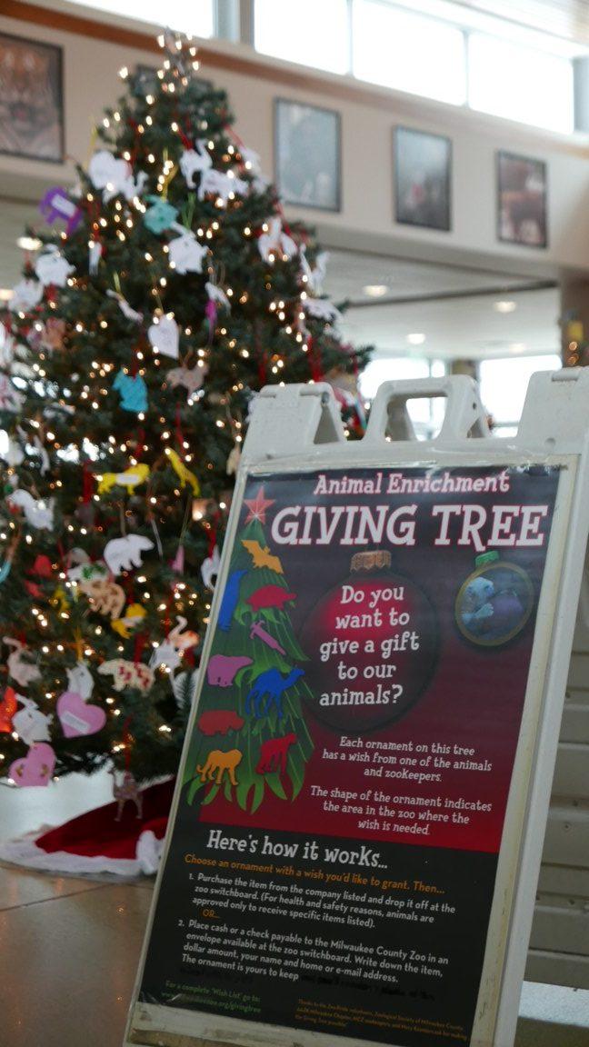 Milwaukee Zoo Animal Enrichment Giving Tree