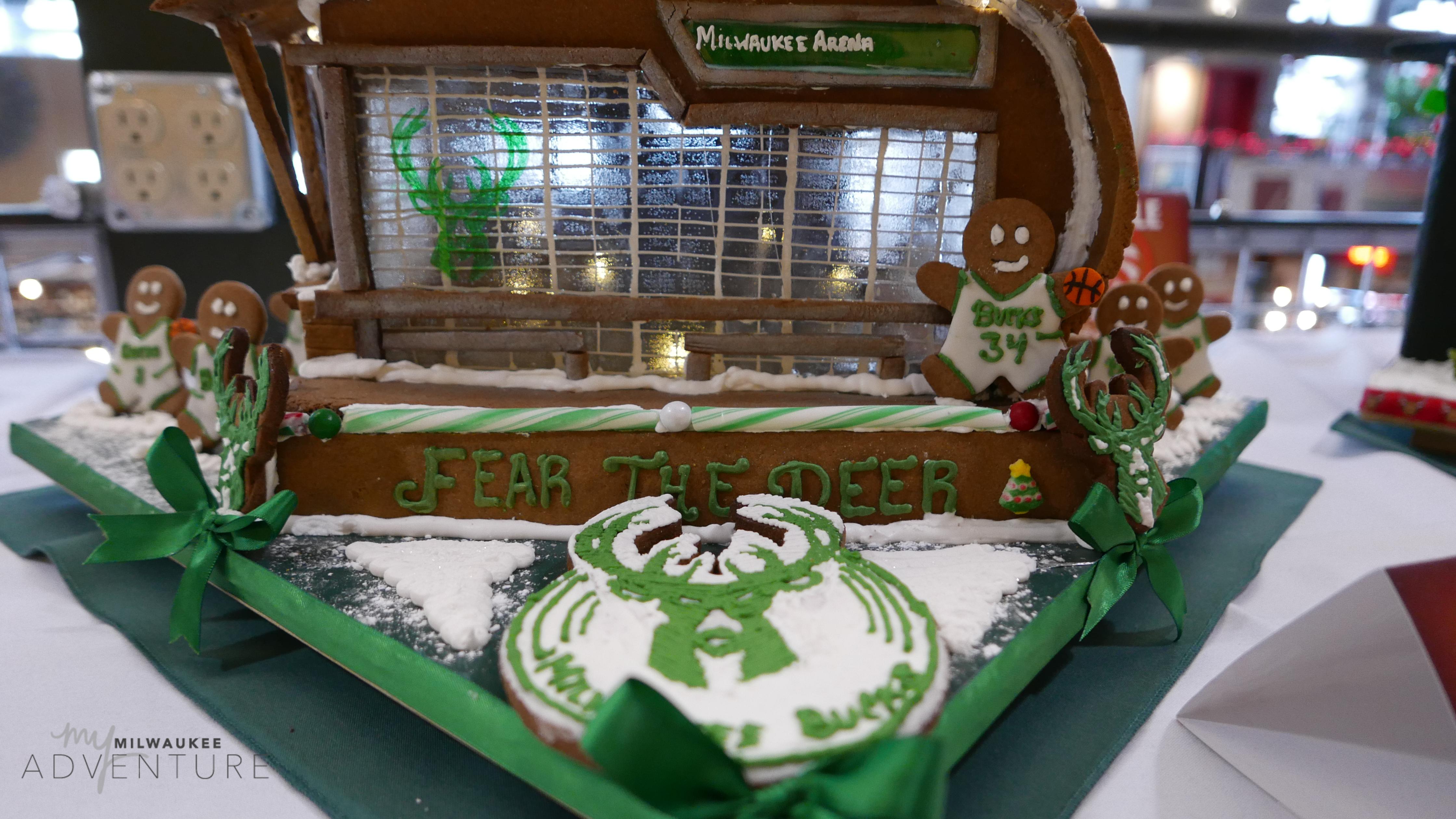 Milwaukee Bucks Arena Gingerbread House