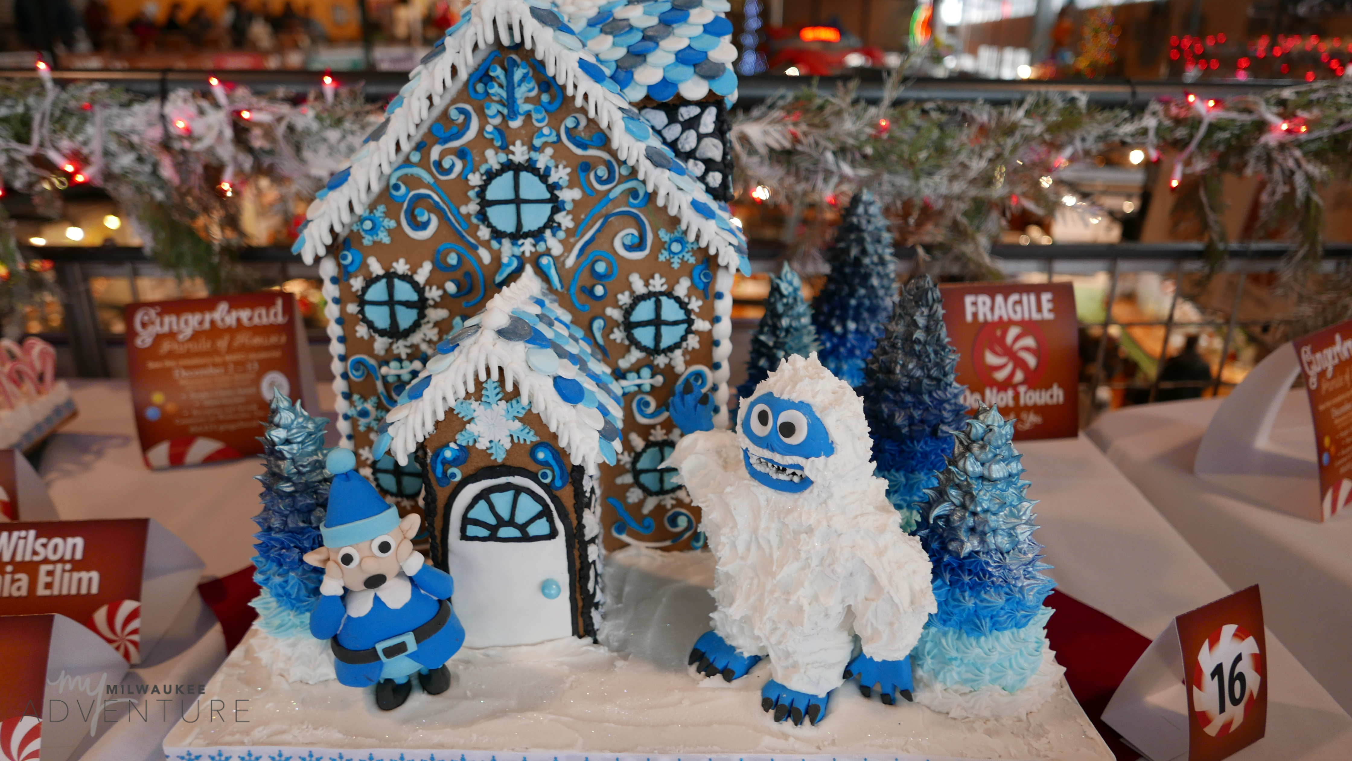 Abominable Snowman Gingerbread House