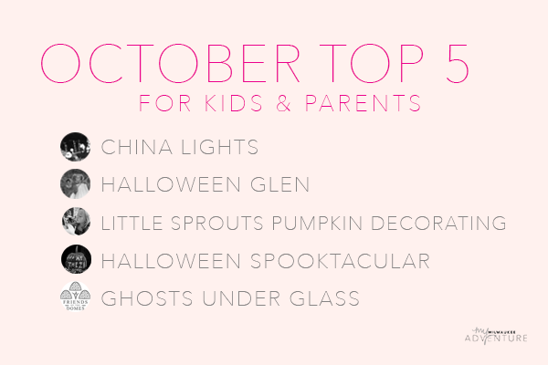 October top 5 activities for kids & parents