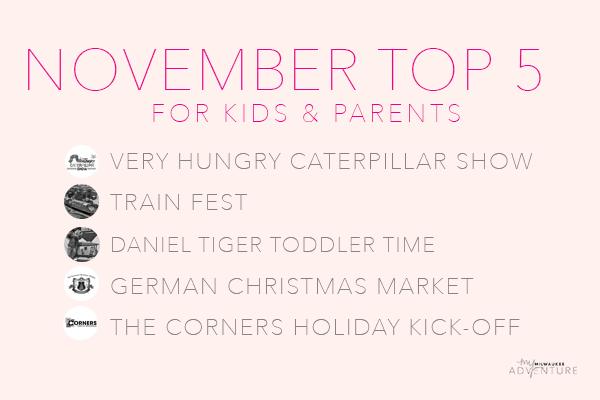 November Top Five Activities for Kids